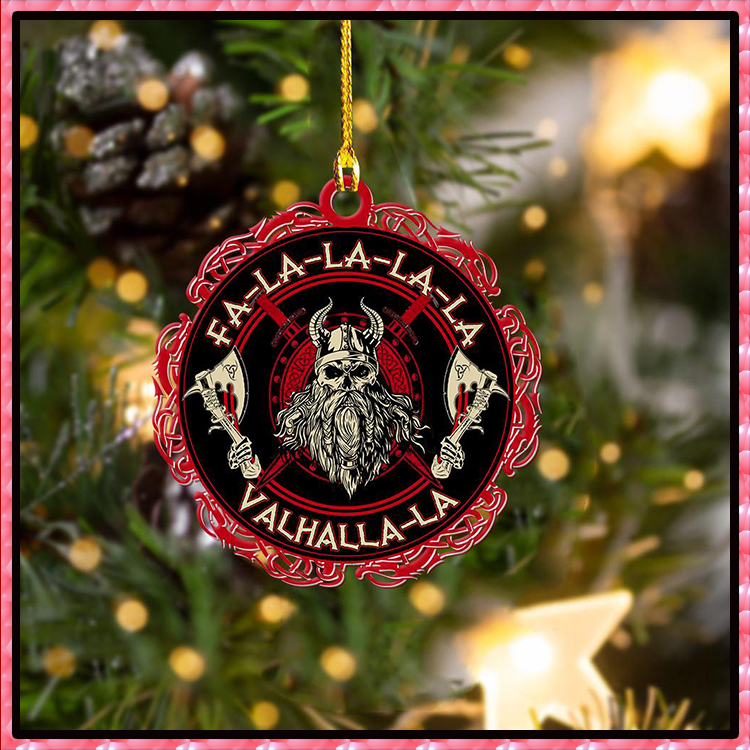 Christmas Viking Valhalla Black And Red Hanging Ornament2