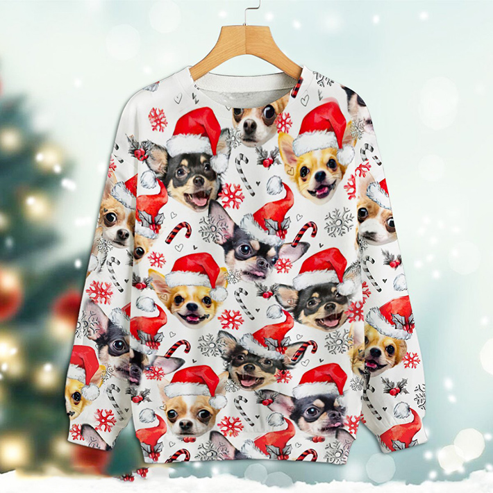Christmas Xmas Chihuahua Sweatshirt3