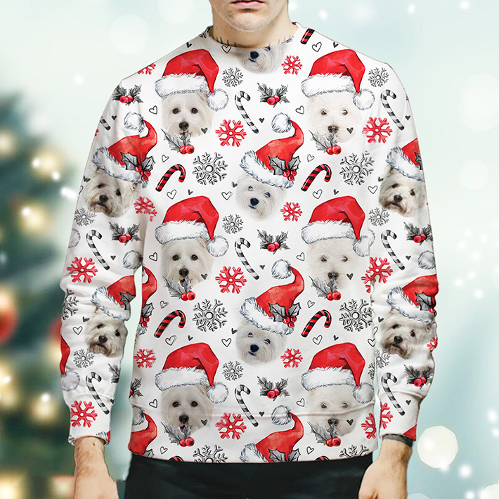 Christmas Xmas West Highland White Terrier Sweatshirt1