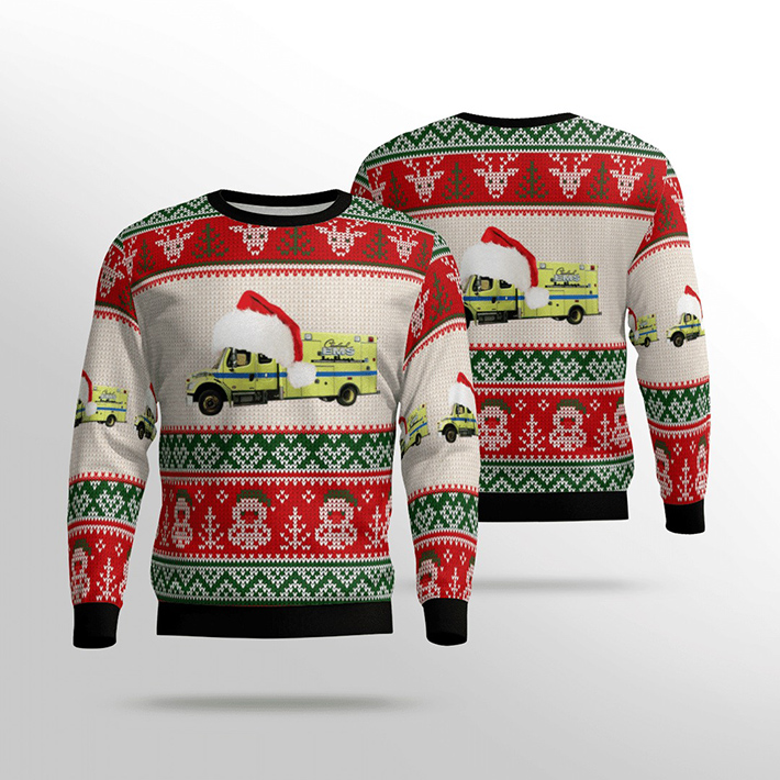 Cleveland EMS Ugly Christmas Sweater