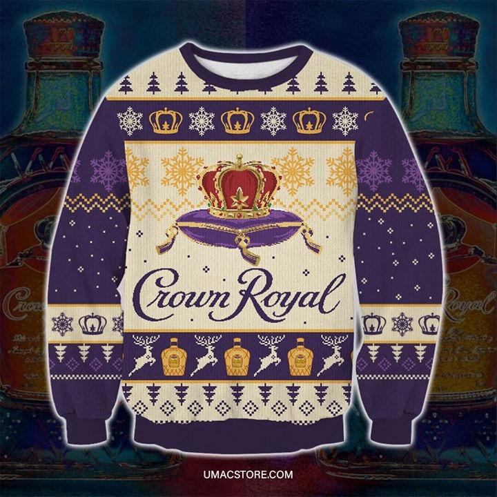 Crown Royal Snowflakes Ugly Christmas Sweater