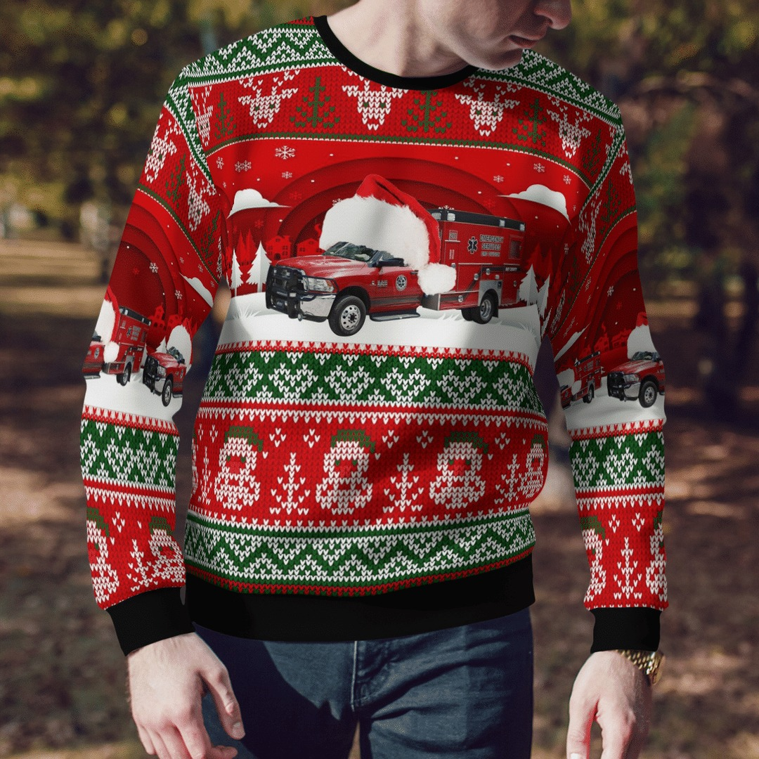 Customer Delivery Bay County EMS Ugly Christmas Sweater3