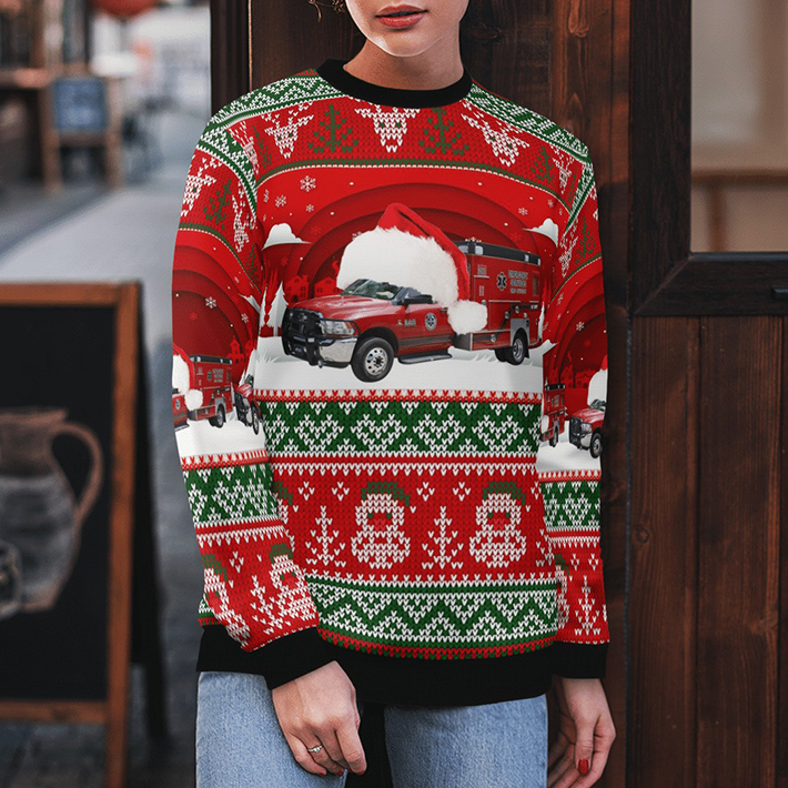 Customer Delivery Bay County EMS Ugly Christmas Sweater4