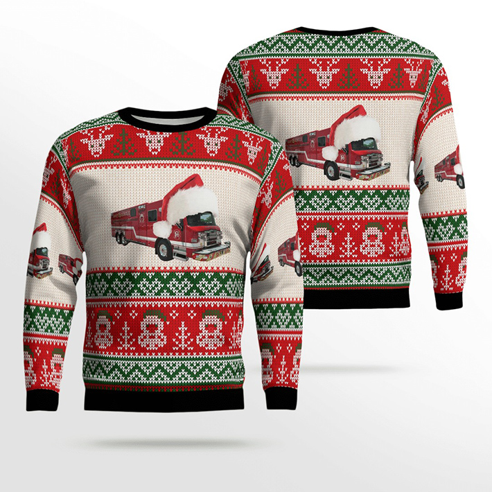 Dallas Fire Station 19 Ugly Christmas Sweater