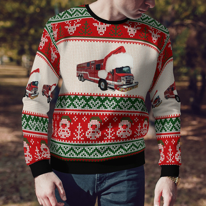 Dallas Fire Station 19 Ugly Christmas Sweater3