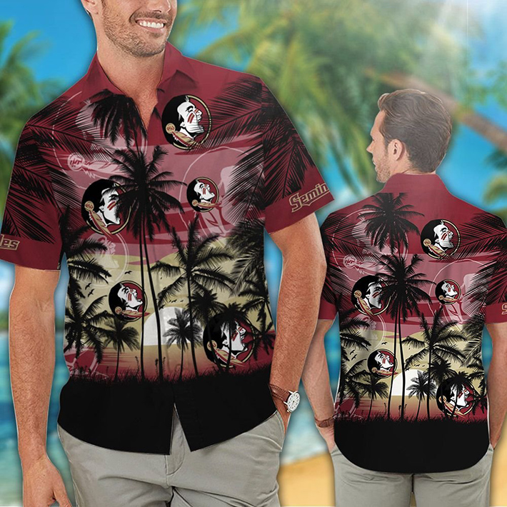 Florida State Seminoles Tropical Hawaiian Shirt Short