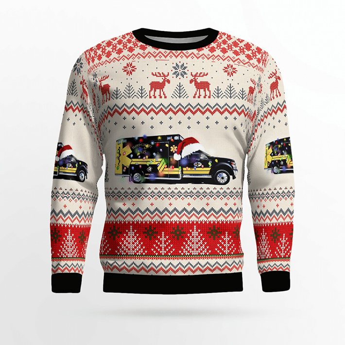 Floyd County EMS Ugly Christmas Sweater1