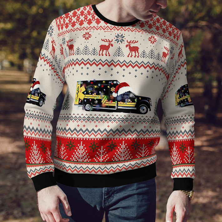 Floyd County EMS Ugly Christmas Sweater4