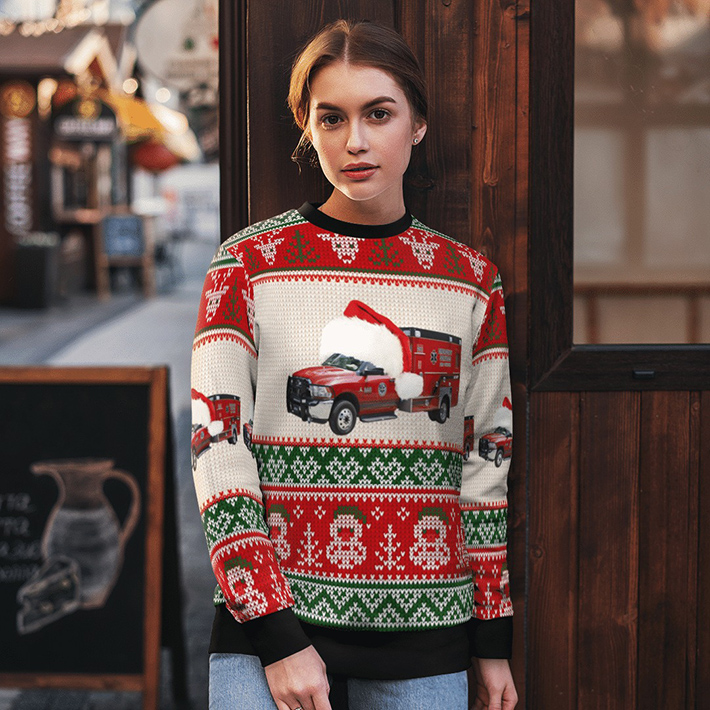 Customer Delivery Bay County EMS Ugly Christmas Sweater1