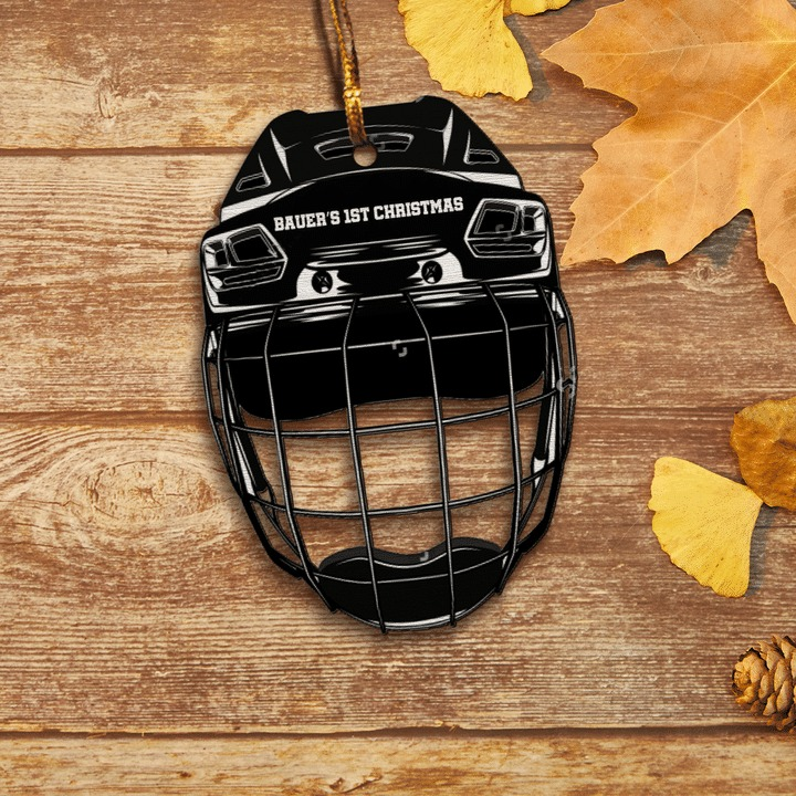 Ice hockey helmet Bauers 1st christmas ornament 4
