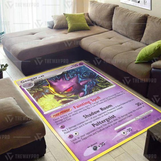 Pokemon Gengar Blanket Quilt Tumbler Rug5