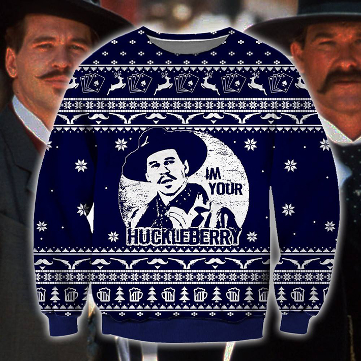 Im Your Huckleberry Meme Ugly Christmas Sweater