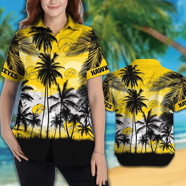 Iowa Hawkeyes Tropical Hawaiian Shirt Short2