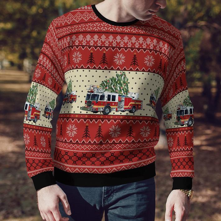 Kentucky Elizabethtown Fire Department Ugly Christmas Sweater3