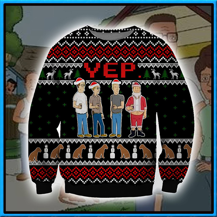 King Of The Hill Yep Meme Ugly Christmas Sweater1