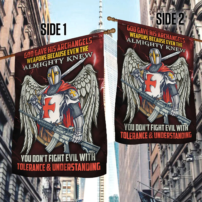 Knight Templar God Gave His Archangels Weapons Because Even The Almighty Knew Flag1