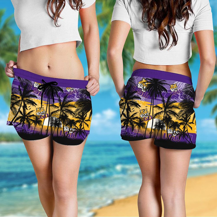 Lsu Tigers Tropical Hawaiian Shirt Short2