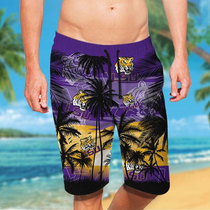 Lsu Tigers Tropical Hawaiian Shirt Short3