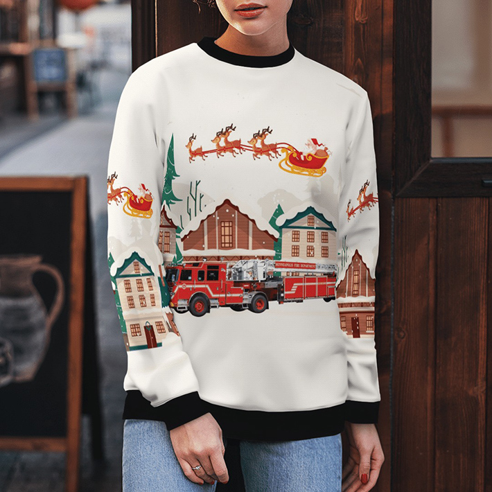 Minneapolis Fire Department Ugly Christmas Sweater4