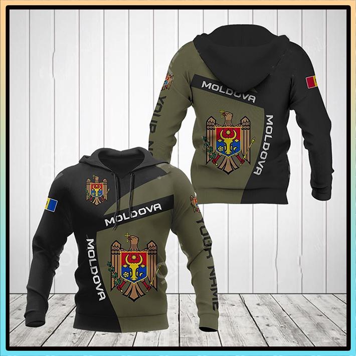 Moldova Coats Af Arms Flag Custom Name 3D Hoodie3