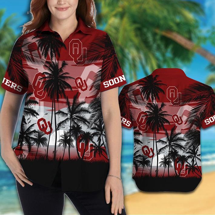 Oklahoma Sooners Tropical Hawaiian Shirt Short1