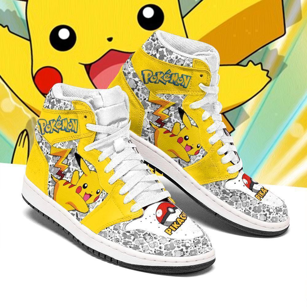Pikachu Pokemon pokeball Air Jordan high top sneaker shoes 3