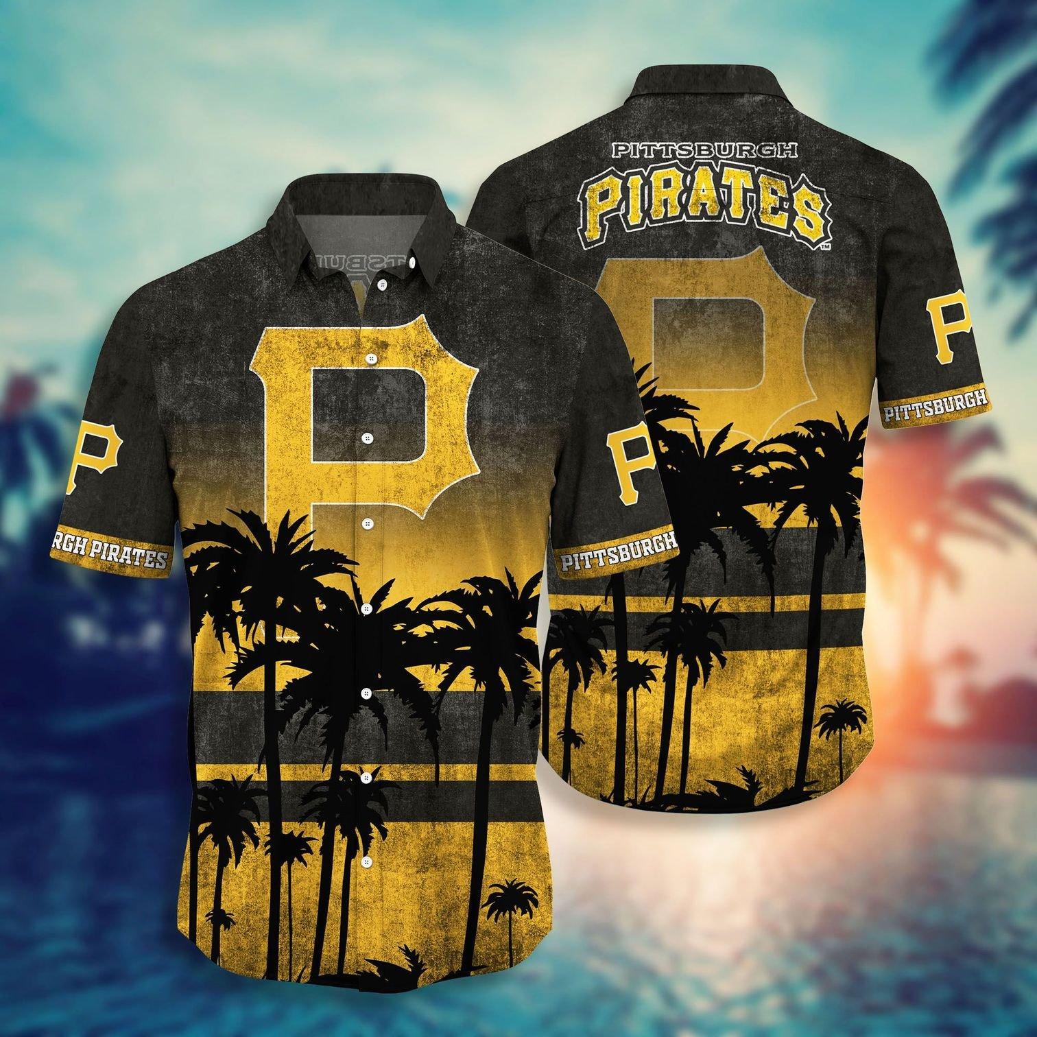 Pittsburgh Pirates tropical hawaiian shirt 5