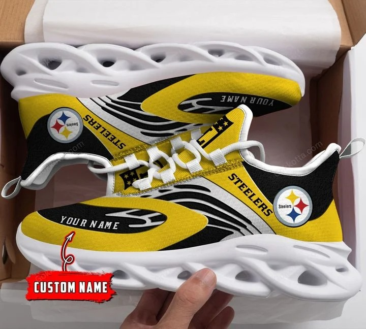 Pittsburgh Steelers custom personalized max soul clunky sneaker shoes 3