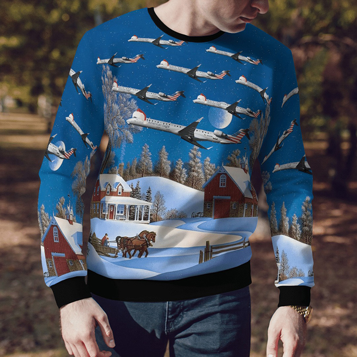 Psa Airlines Bombardier CRJ900 Ugly Christmas Sweater3