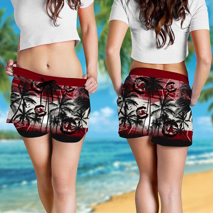 South Carolina Gamecocks Tropical Hawaiian Shirt Short2