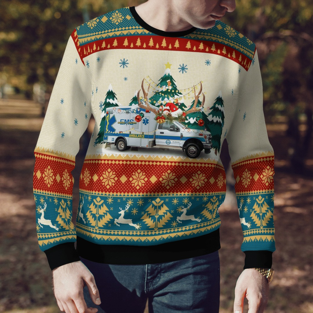 Sumner County EMS Ugly Christmas Sweater3