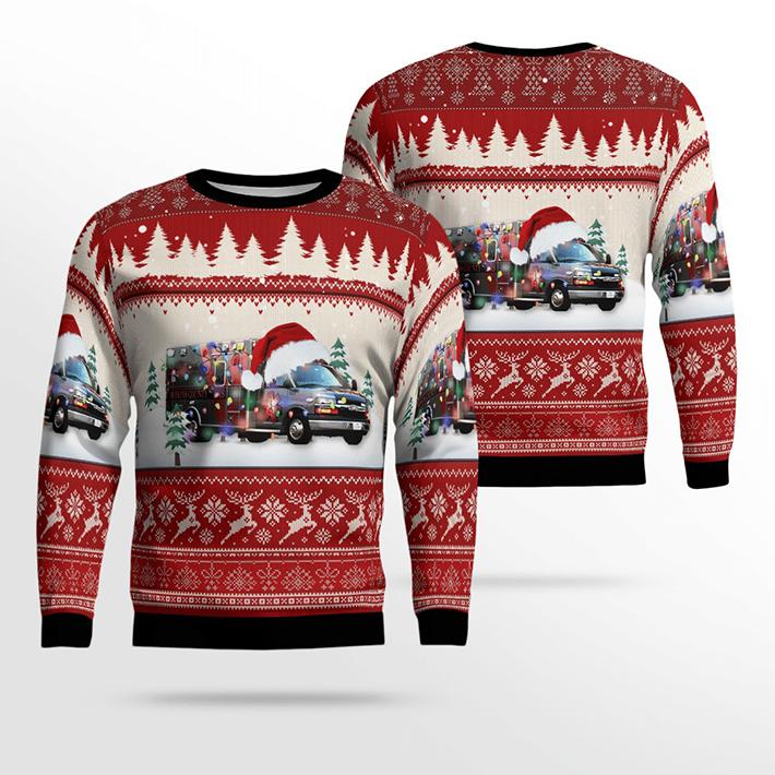 Texas Hopkins County EMS Ugly Christmas Sweater