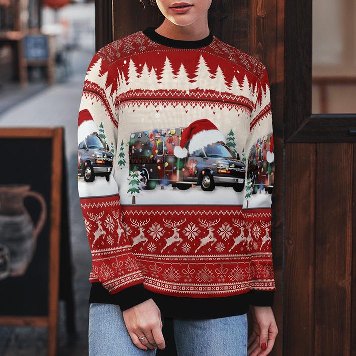 Texas Hopkins County EMS Ugly Christmas Sweater4