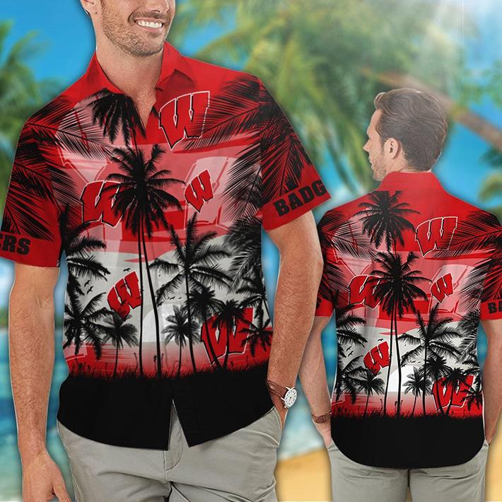 Wisconsin Badgers Tropical Hawaiian Shirt Short