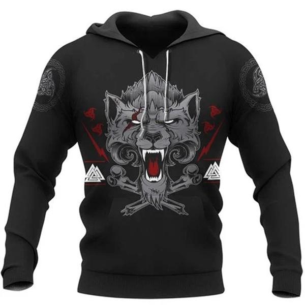 Wolf Of Odin Valhalla Bound 3d Hoodie Shirt3