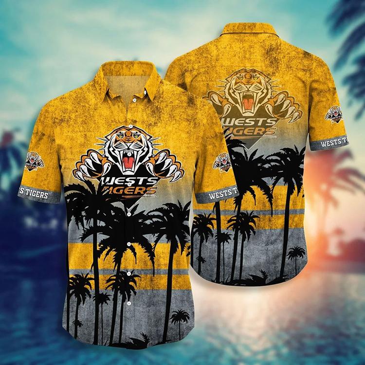 NRL Wests Tigers Hawaiian Shirt Short